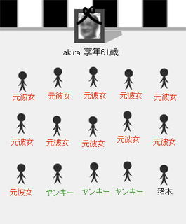 ザ葬式(男性用):××メーカー(ぺけぺけメーカー):○○メーカーを作